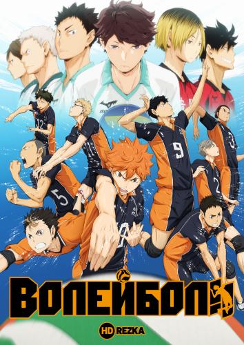 Смотреть Волейбол!! [ТВ-1] онлайн в HD качестве 720p
